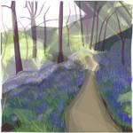 Walk in the woods Spring  7x7ins framed Print £74