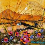Gloaming Poppies Acrylic 4.5x4.5ins £242