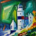 Cloch Lighthouse 5 Oils 29x19cm £190