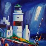 Cloch Lighthouse 6 oils 25x19cm £190